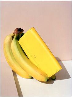 Zoe Ghertner for Celine banane - porte monaie jaune Fruit Photography, Flat Lay Photography, Still Life Photography, Editorial Photography, Fashion Photography, Product Photography, Minimal Photography, Fashion Still Life, Still Life Photos