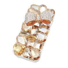 Champagne Luxe Ribbon Crystal Iphone 5 Case~ The only use I'd have for an IPhone is to have this cover.