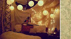 Indie room idea :D Indie Bedroom, Tumblr Bedroom, Tumblr Rooms, Bedroom Decor, Bedroom Lanterns, Cozy Bedroom, Teen Bedroom, Bohemian Bedrooms, Magical Bedroom