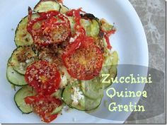 Another way to use up all your zucchini and summer squash (and add quinoa and goat cheese!): Zucchini Quinoa Gratin!