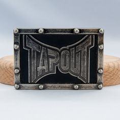Tapout MMA Expression Of Combat Known Worldwide Metal by ArtCGecko, $29.95