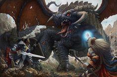 Pathfinder Dragon by Joe Shawcross