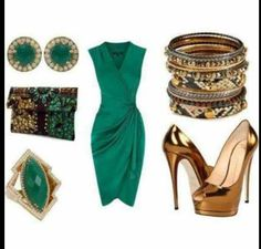 9530c03146c 25 Best Emerald Green Dress Outfits images
