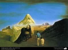 """Chica triste"" (1986) - Pintura realista; Óleo sobre lienzo- Artista: Profesor Morteza Katuzian, Irán"