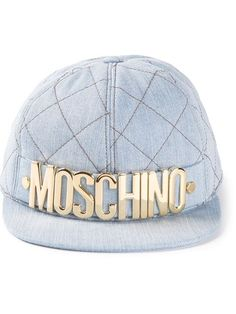 Shop Moschino quilted baseball cap in Smets from the world's best independent boutiques at farfetch.com. Over 1000 designers from 60 boutiques in one website.