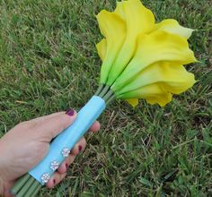 Real Touch Calla Lillies Calla Lilly Bouquet by AngelicasBridal, $30.00