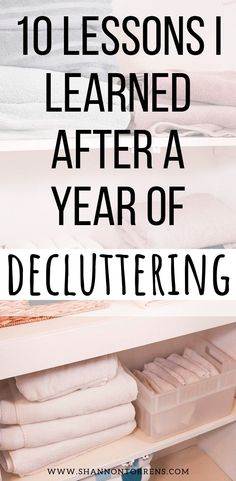 "Here are 10 lessons I learned after a year of decluttering. Yes It took us over a year to declutter our home.I had never heard of the word ""declutter"", unti Getting Rid Of Clutter, Getting Organized, Feng Shui, Clutter Free Home, Declutter Your Life, Living Under A Rock, Tips & Tricks, Diy Décoration, Konmari"