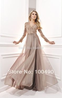 Newest V-Neck Lace Formal Evening Dress With Applique Beads Pleats Turquoise Blue Long sleeves Muslim Prom Dresses Prom Dress $160.00