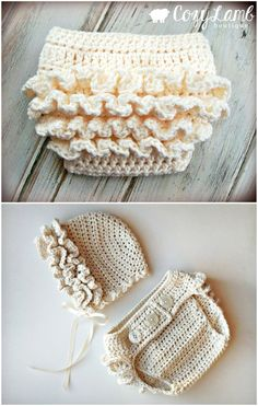 You'll Love These Crochet Diaper Cover Patterns You will love these baby crochet diaper cover pattern ideas and there is something for everyone including popular ruffled version. Crochet Baby Bloomers, Crochet Baby Props, Newborn Crochet Patterns, Baby Girl Crochet, Crochet Baby Clothes, Crochet For Kids, Free Crochet, Crochet Baby Outfits, Crochet Baby Hats Free Pattern