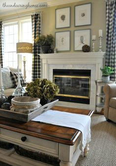 idea for my coffee table makeover - AND, LOOK at that floor samp shade!!