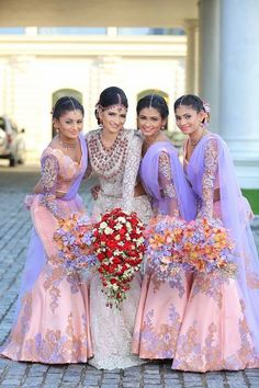 Indian Wedding guest fashion is a question that we answer for Indians and non-Indians alike. What to expect at an Indian wedding is lots of music, food and dancing. Wear your best anarkali, lehenga, gown and kurta for Mendhi and Sangeet, and the ceremony! Indian Wedding Bridesmaids, Indian Bridesmaid Dresses, Bridesmaid Saree, Indian Wedding Favors, Bridesmaid Outfit, Indian Wedding Outfits, Desi Wedding, Saree Wedding, Indian Bridal