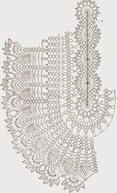 Realizzato Ivelise mano: Crochet Lacy  (solo schema)