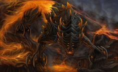 Fire Colossus Other entries Air Death Water Life Fire Colossus Fantasy Story, Fantasy World, Fire Element, Fire Dragon, Water Life, Creatures, Deviantart, Dragons, Monsters