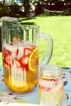 Peach Sangria.  One of my faves!  I add a little sugar, cause I like it a little sweeter, but it's totally optional on that point ;)