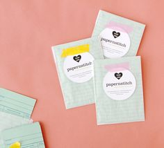 die-cut business cards diy // Papernstitch