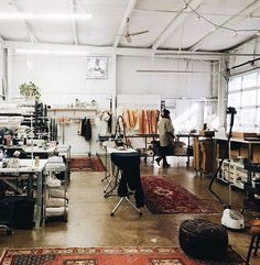 artist isabelle tuchband's atrium art studio via the selby. even though i really like working from home, i love having the luxury of the studio space i share in downtown L.A. — it's just such a creati