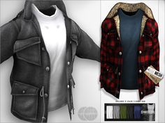 Second Life Marketplace - switch. Achtung! Lumber Jack {Mesh} Coat Red
