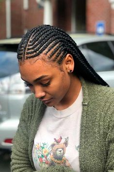 Cornrow Hairstyles For Wild Modern Looks ★ For natural-haired goddesses, cornrows are like a little black dress for every stylish lady. All styles touched by cornrow braids turn to trends: see how to rock one! Box Braids Hairstyles, Girl Hairstyles, Natural Cornrow Hairstyles, Braided Hairstyles For Black Women Cornrows, Fashion Hairstyles, Lemonade Braids Hairstyles, Curly Hair Styles, Natural Hair Styles, Crochet Braids