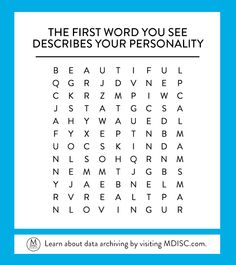 Comment with the first word you see! #MDISC #wordsearch