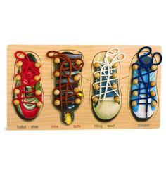 """Försöker du lära barnen knyta skor? Tavla """"Lär dig knyta skor"""" hjälper att lära barn hur man knyter skorna och gör det till en rolig upplevelse för dem."""