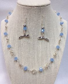A personal favorite from my Etsy shop https://www.etsy.com/listing/262437069/milky-blue-glass-bead-necklace-and