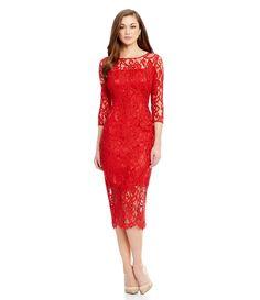 13f96fe6ab1 Shop for Antonio Melani Briar Crew Neck Scalloped Lace Midi Sheath Dress at  Dillards.com. Visit Dillards.com to find clothing