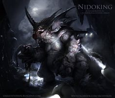 Nidoking by JRCoffronIII Pokemon demon devil monster beast creature animal | Create your own roleplaying game material w/ RPG Bard: www.rpgbard.com | Writing inspiration for Dungeons and Dragons DND D&D Pathfinder PFRPG Warhammer 40k Star Wars Shadowrun Call of Cthulhu Lord of the Rings LoTR + d20 fantasy science fiction scifi horror design | Not Trusty Sword art: click artwork for source
