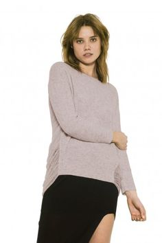 Cole Pullover by one grey day - Exaggerated drop needle panels adorn the sides and back of our Cole pullover, giving this style the classic OGD distressed look. Pullover Sweaters, Toast, Turtle Neck, Wool, Knitting, Grey, Long Sleeve, Knits, Stuff To Buy