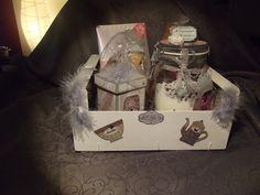 Coffret cadeau gourmand réalisé en scrapbooking : Boîtes, coffrets par la-boutique-de-nana