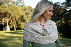 Knitted chalice cowl with buttons