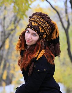 Crochet Indian Hat Imitation authentic Feather Headdress Native Style Chief hat…
