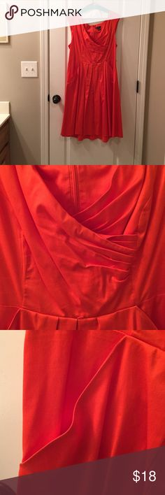 Beautiful burnt orange dress. In the fall wear with a deep brown shrug like last picture or in spring I used a sassy purple or yellow belt with purple shrug. new directions Dresses