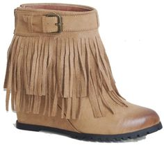 Wedge Fringe Bootie from The Lace Gypsy