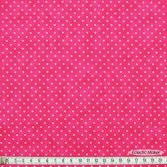 Moda Basics Essential Dots in Hot Pink Moda Basics Essential Dots in Hot Pink (8654 31) fabric for patchwork quilting and dressmaking from Eclectic Maker [8654 31] : Eclectic Maker, patchwork, quilting and dressmaking fabric, patterns, habberdashery and notions.