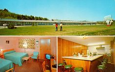 My brother went to Bates college in this town.holiday motel lewiston ME Vintage Hotels, Vintage Travel, Bates Motel Season 4, Century Hotel, Retro Room, Mid-century Interior, Hotel Motel, Camping Glamping, Mid Century Style