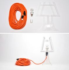 The cord that plugs it into the wall – an essential element in nearly any lamp or lighting fixture.
