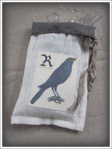 Halloween ~ Flour Sack Raven Bag