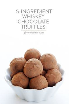 5-Ingredient Whiskey Chocolate Truffles | gimmesomeoven.com                                                                                                                                                                                 More