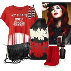 Rock Star Clubbing by ruaorlia13 on Polyvore featuring Simeon Farrar, Alexander McQueen, Paul Andrew, Oscar de la Renta, Victoria's Secret and Kat Von D