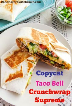 This Copycat Taco Bell Crunchwrap Supreme is just like the one you'd get from the Taco Bell menu! Make them at home when you can't go out!
