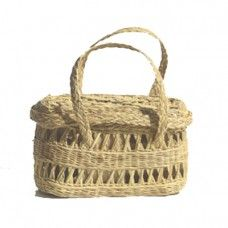 Shop Indie Online Stores For Fashion No One Else Has: Maria La Rosa Straw Fish Basket. | Coveteur.com