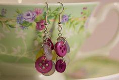 My Favourite Things: ~ Ooh la la ~ Easy DIY Button Earrings