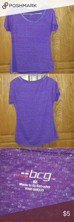 bcg purple shirt This is a size Medium bcg shirt. GOOD USED CONDITION. bcg Tops Tees - Short Sleeve