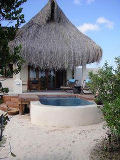 New beach villa from the beach