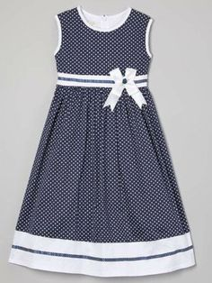 Another great find on Blue Polka Dot Sash A-Line Dress - Toddler & Girls by Richie House Frocks For Girls, Toddler Girl Dresses, Toddler Girls, Fashion Kids, Little Girl Dresses, Girls Dresses, 50s Dresses, Elegant Dresses, Dress Anak