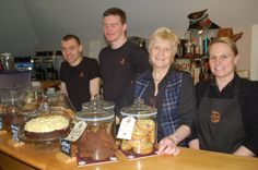 The team from Casks Café!  Left to Right, Ross, Piotr, Kate and Ailsa. - Arran Visitor Centre