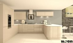 cashmere kitchen with grey
