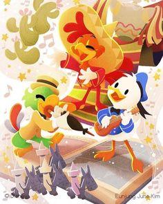One of the 4 pieces I made for 2020 Epcot International Festival of the Arts . Disney Birds, Disney Duck, Disney Movies, Disney Pixar, Princess Toadstool, Three Caballeros, Disney Rooms, Duck Tales, Disney Posters