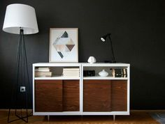 When you can hack a piece of furniture to match your midcentury decor instead of buying the same piece for a billion bucks, that's the way we like it. And that's exactly what happened to these simple IKEA bookshelves. With an addition of doors and legs, you'd never know it was an IKEA hack. (via Petite Apartment)