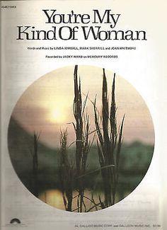 Sheet Music 1979 You're My Kind Of Woman Jacky Ward 300